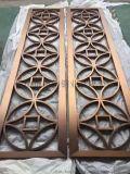 不锈钢屏风镀红古铜拉丝,不锈钢隔断屏风,不锈钢激光
