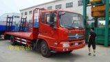 東風天錦平板運輸車可載150挖機