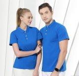 夏季纯棉短袖工作服男女定制T恤广告文化POLO衫衣服订制刺绣印字