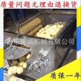毛辊清洗机 适用于根茎类蔬菜水果清洗设备 果蔬清洗脱皮加工定制