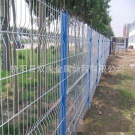 供应防盗三角折弯护栏网 框架防护网  双丝边隔离栅