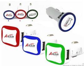 2013新款ASIAD 2.1a双USB车载充电器