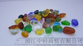 鹅卵石中科水晶石五彩石雨花石水族造景底砂微景观