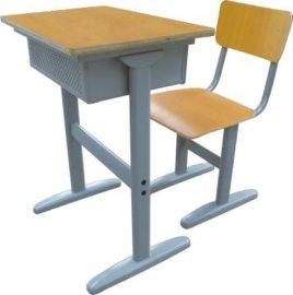 厂家供应学生课桌椅 钢木课桌椅 中学生升降课桌椅批发
