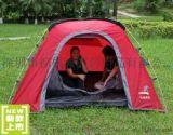 帳篷 3-4人休閒鋁合金杆戶外野營帳篷防暴雨