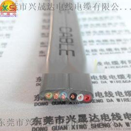 6芯0.5平方扁电缆,6芯0.75平方伸缩门用线