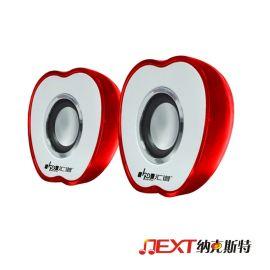 深圳廠家批發USB小音箱音響USB迷你時尚小音響萍果彩炫燈