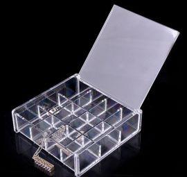 深圳天利达亚克力化妆品收纳盒/水透明妆品盒/水晶化妆盒储物柜盖子收纳盒