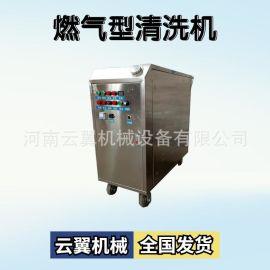 冬季洗车店用蒸汽洗车机 多功能燃气加热清洗机 手推高压洗车机