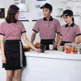 服务员工作服快餐店短袖T恤 西式咖啡厅烧烤店服装