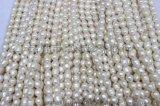 卓偉珍珠 淡水珍珠項鍊6-7mm米型羅紋項鍊 珍珠飾品低檔150326