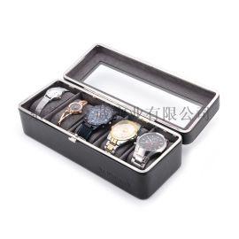 厂家直销高档5位PU皮手表盒收纳展示首包装盒子