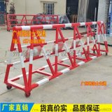 拒马生产厂家 挡车移动滑轮防冲撞护栏 带刺钉安全栏