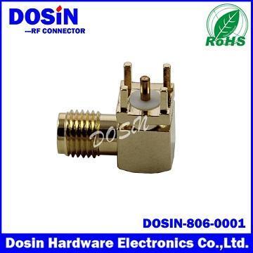 德索/DOSIN-806-0001SMA镀金母头,SMA-KWE,SMA射频连接器,SMA JACK