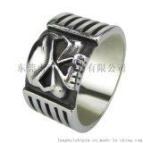 时尚饰品 复古哥特朋克戒指 钛钢男士骷髅戒指 创意个性