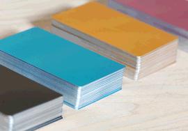 多色金属铝片/激光打标名片/雕刻调试材料/铝镁合金/热转印/