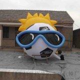 廠家直銷充氣太陽模擬卡通  眼鏡模擬卡通氣模