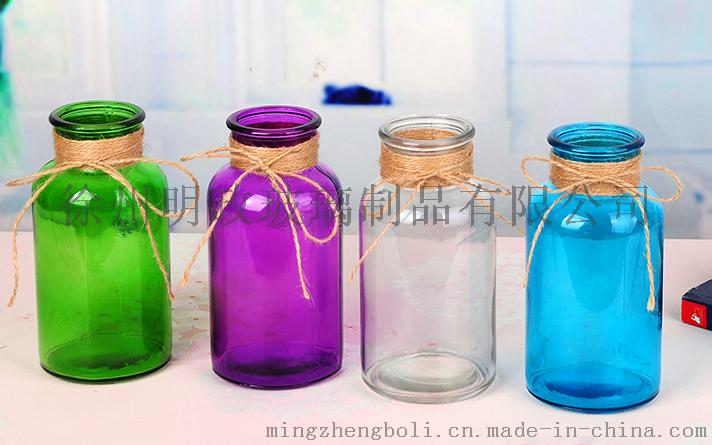 彩色玻璃花瓶,玻璃花瓶,玻璃瓶