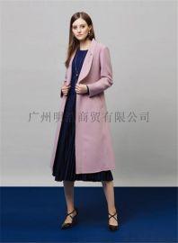 廣州品牌折扣批發歐美潮牌雙面羊絨大衣貨源市場