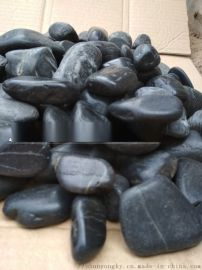 乌兰察布供应顺永2-8厘米黑色鹅卵石雨花石