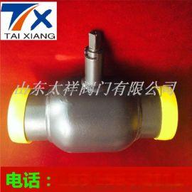 厂家直销全焊接球阀Q361F燃气放散球阀