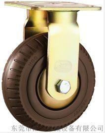 重型6寸固定发泡橡胶轮 厂家直销 6寸定向发泡轮