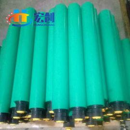 白色pvc滚筒 绿色 白色塑料 材质 直径50