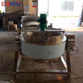 鑫富供应,可倾斜式蒸汽带搅拌夹层锅,炒锅,蒸煮锅