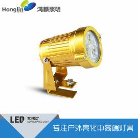 金黃色瓦片燈_3w圓形瓦楞燈首選鴻麟照明