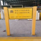 玻璃鋼出入口複合標識牌 韌性大 標誌樁