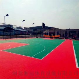 襄阳市幼儿园软质悬浮地板篮球场气垫拼装地板湖北