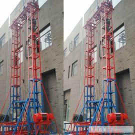 建筑垂直运输12米-48米高度龙门架 简易式门架式施工升降机