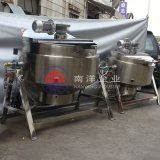 300L可倾式燃气加热煮锅 不锈钢蒸煮搅拌锅