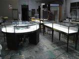定制不锈钢异型珠宝展示柜 玻璃柜台