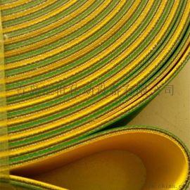 厂家直销 天津 上海地区 国产尼龙黄绿片基带 工业传动带 平皮带