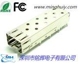 SFP笼子+20PIN座子无导光光纤模块屏蔽外壳1X1单口SFP连接器