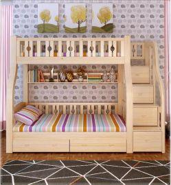 1.3米1.5米多功能儿童高低床松木双层床