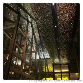特攻定制不锈钢水波纹压花板吊顶天花装饰墙面