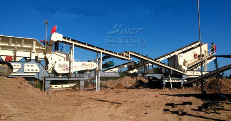渣土建筑垃圾破碎站 建筑垃圾移动破碎站 人工织沙生产线