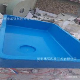 厂家制作玻璃钢养鱼水槽 蓝色绿色红色可任意选择 玻璃钢养殖水槽
