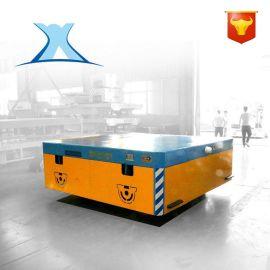 车间货物周转车 锂电池遥控周转平移小车 轨道智能电动平板车