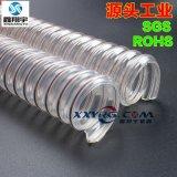 衛生級pu鋼絲軟管, 耐磨輸送麪粉、穀物、飼料、顆粒軟管45mm