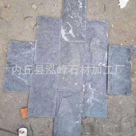 浅灰色大理石蘑菇石, 芝麻灰石材加工, 外墙天然, 深灰麻图片