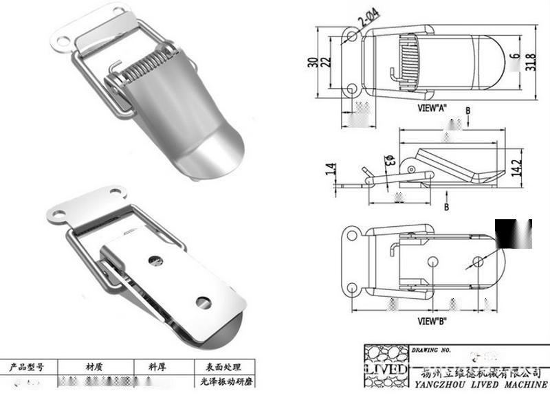 l供应高品质 【厂家直销】 ** QF-639不锈钢搭扣、**搭扣