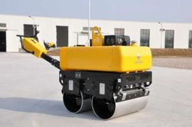 820kg液压转向定量液压马达美国轻载型变量柱塞泵无极变速手扶双钢轮压路机路得威品牌厂家直销