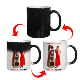全变色马克杯 感温变色杯 热转印杯 广告促销杯 礼品赠送杯