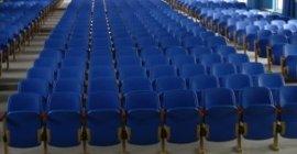 河北省廊坊市霸州市胜芳镇中考吹塑面阶梯教室排椅