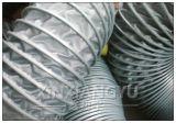 灰色伸缩通风管,金属夹布通风管,压缩通风管