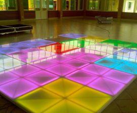 大鹏鹰led发光地板砖跳舞感应地砖灯音乐视频发光感应酒吧舞池互动地砖厂家供应