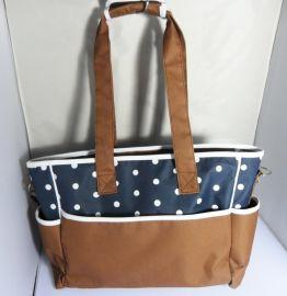 广州直接厂家定做妈咪包 多功能多分隔母婴包袋大容量休闲单肩包
